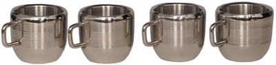 India Desire:BM Apple ST Stainless Steel Mug (100 ml,Pack of 4) @ 399/-