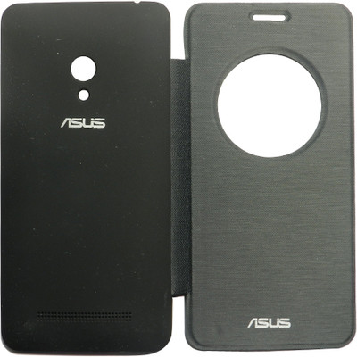 India Desire: Amaze Mobile Flip Cover for Asus Zenfone 5 A501CG(Dark Black) @ 146/-