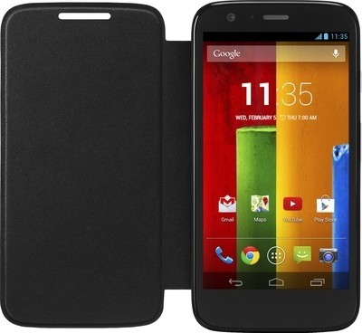 India Desire: Flip Cover for Motorola Moto G 2nd Generation(Black) @ 95/-