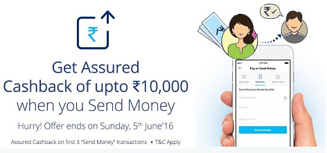 Paytm Send Money Offer