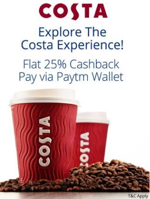 Paytm Costa Coffee Offer