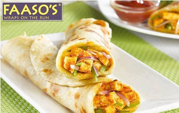 Faasos Coupons get 100% Cashback Promo Codes