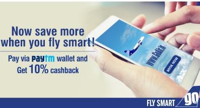 GoAir Paytm Offer get 10% Cashback