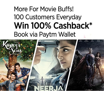 Paytm Movie Tickets deals Buy 2 Get 1 free