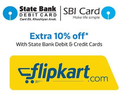Flipkart SBI bank Offer Debit & Credit Cards Get 10% Off