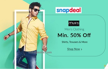 Snapdeal  Mens Clothing  50% Off