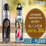 India Desire : Photohaat Offer : Get Upto 50 % Off + Additional 30% Discount On Customized Water Bottles