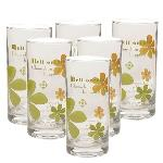 India Desire : Buy Set Of 6 Pcs Green Apple Bloom Long Glass At Rs. 129 Only From Pepperfry