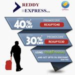 India Desire : Bus Booking Offer : Get Upto 30% to 40% Off On Book Bus Tickets Online At Reddy Express-REXUPTO40